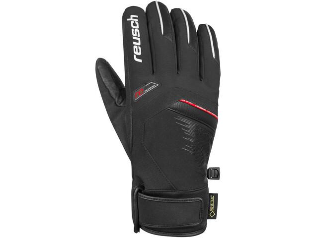 Reusch Beat GTX Gloves black/white/fire red